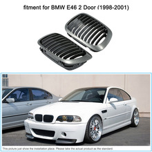 One Pair of Carbon Fiber Car Front Grille Grilles for BMW E46 2 Door 1998-2001