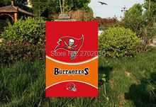 "Tampa Bay Buccaneers National Football Team Garden flag kintted polyester double sides 13""X18"" custom flag Home Deco Outdoor"