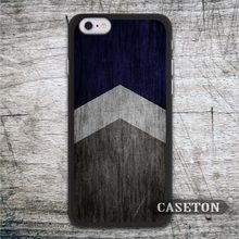 Navy Blue Arrow Wood Case For iPhone 7 6 6s Plus 5 5s SE 5c and For iPod 5 High Quality Ultra Phone Cover Global Wholesale