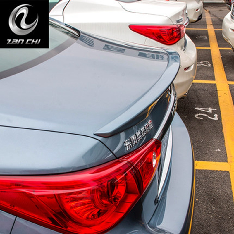 Car Styling Exterior ABS Plastic Unpainted Primer Rear Roof Wing Spoiler Cover Fit Infiniti Q50 Q50L Spoiler 2014 2015 2016