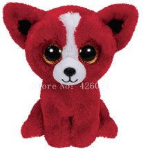 New Beanie Big Eyed Tomato Red Chihuahua Dog Stuffed Animals Kids Plush Toys Children Gifts 15CM(China)