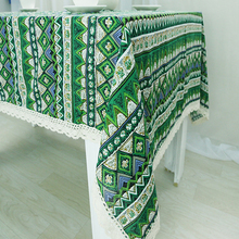 USPIRIT Table Cloth Lattice Style High Quality Lace Tablecloth Decorative Elegant Table Cloth For Lunch Dinner  HH1646