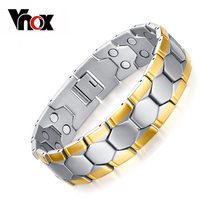 Vnox Magnetic Health Care Bracelets Bangles Sport Football Design Men's Charm Jewelry With Germanium
