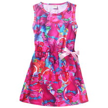 Trolls Dress Christmas Costumes For Girls Party girls Dresses summer sleeveless for kids clothes For Children Teenager clothing