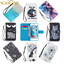 Brand Book Flip Covers Cases For Apple iPhone 6 S iPhone6S 4.7 TPU Shell PU Leather Wallet Cases Print Shcokproof Full Housing(China)