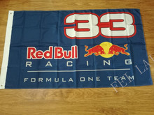 3X5FT Red Bull F1 33  racing car flag 100D polyester Free Shipping