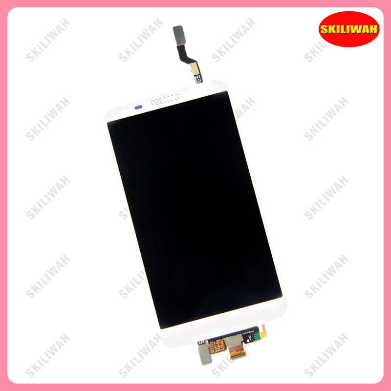 Free Shipping For LG Optimus G2 VS980 LCD Display White with Touch Screen with verizon Logo Smartphone  <br>