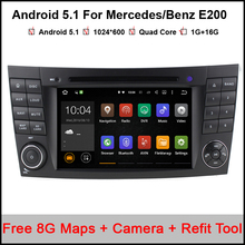 Android 5.1.1 Car DVD Player GPS For Mercedes/Benz E200 E220 E240 E270 E280 E320 E350 CLK W209 W211 W219 W463 With wifi 3G Radio