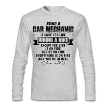 Big Size Being A Car Mechanic Men's Under T-shirt Casual Long Sleeve Cotton Couple Shirts