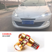 For Peugeot 206 307 207 508 2008 2008 301 Canbus T10 W5W 27 SMD 3014 LED Car Clearance Parking Light Wedge Lights Lamp 12V