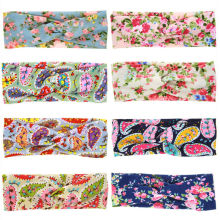 2Pcs/Set Mama & Mini Headband Mother Lovely Girl Twisted Headband Floral BowKnot Hairband Turban Head Wrap Hair Band Accessories(China)