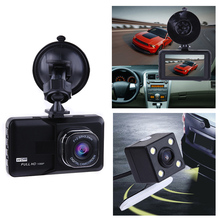 "3"" Dual Lens Car DVR with two Camera 1080P Full HD G-Sensor WDR Video Registrator Recorder Camera With Rear View Camera Dash Cam"