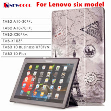 Tab3 10 Plus/ business X70 Tab-X103f Flip Cover For Lenovo Tab 2 Tab2 TB3-X70L TAB3-X70F A10-30 x30 x30f A10-70c tablet Case