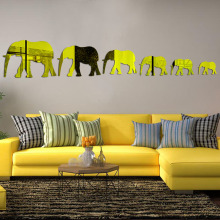Fashion Kids 3D Acrylic animal Mirror Elephant mirror wall sticker creative wall sticker poster stickers diy home decoration ac(China)