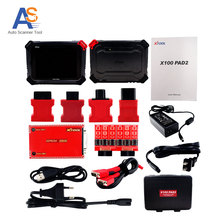 100% Original X100 Pad2  Pro Auto Key Programmer with EPB EPS OBD2 Odometer Oil Rst TPMS X100 PAd 2 Better than X300 pro3