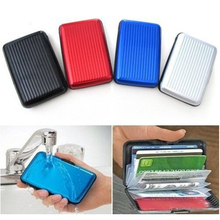 1 piece Waterproof ID credit wallet aluminium plastics card holder case cardholder Business Shiny Side Anti RFID scan Cover P5