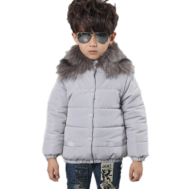 2017 New Toddler Winter Coat Collar Hooded Children Down Jackets For Boy  England Style Kids Thicken Warm Jacket Down Coat KidОдежда и ак�е��уары<br><br><br>Aliexpress