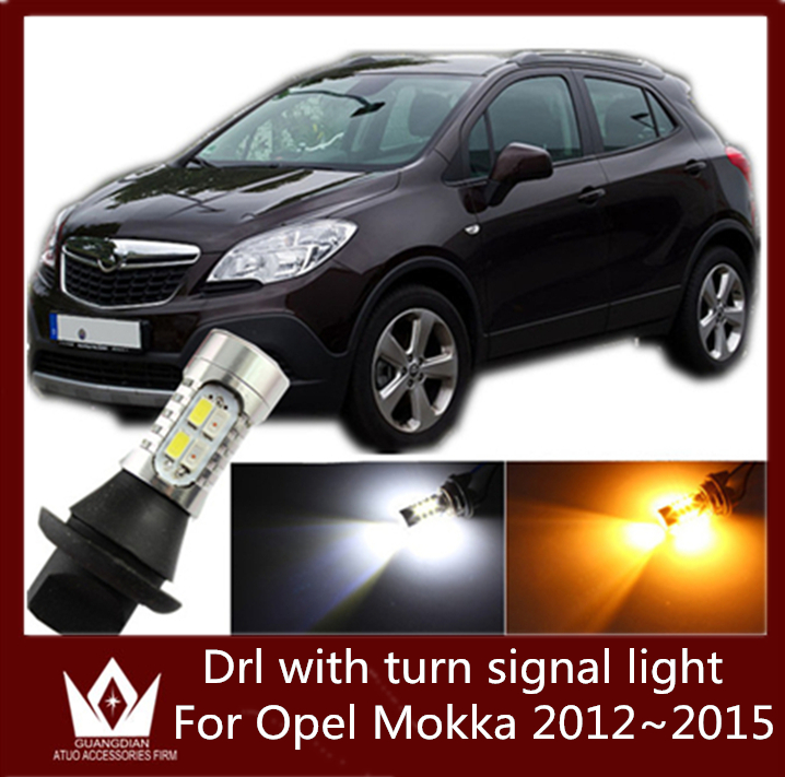 Guang Dian car led light Daytime running light with turn signal light drl with switch lamp Fit For Opel Mokka 2012~2015<br><br>Aliexpress