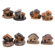 Doll House Micro Miniature Decoration Stone Dollhouse House Fairy Garden Cottage Landscape DIY Design Crafts 4 Types(China)