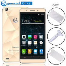 Original Gooweel M5 Pro Mobile Phone MTK6580 Quad core 5 inch IPS Screen Smartphone android 5.1 5MP+8MP Camera GPS 3G Cell phone(China)