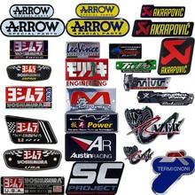 25 style Aluminium Motorcycle Exhaust Pipes Decal Sticker Cool Personality Scorpio For Arrow Yoshimura Stickers SC AR Leovince(China)