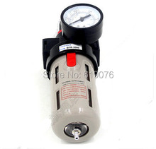 "Free Shipping 1/2"" Airtac BFR-4000 Source Treatment Unit Pneumatic Air Filter Regulator With Pressure Gauge + Cover BFR4000"
