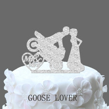 Motocross Cake Decoration, Motorcycle Cake Topper Bride And Groom Silhouette Mr And Mrs Acrylic Wedding Cake Decor,