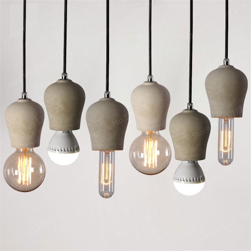 Modern Nordic Retro Swedish Designer Pendant Light Retro Industrial Cement Contemporary Creative Restaurant Bar Droplight Lamp <br>