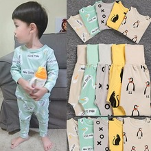 Puseky 2017 NEW Cotton Kids Pajama Sets Boys Girls Nightwear Letter Print Toddler Baby Pajamas Kids Long Sleeve Pajama Sleepwear(China)