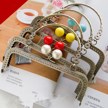 14 Colors Candy Purse Frame Sewing Purse Handle Metal Accessories For Handbag Clasp For Bag Wholesale Metal Purse Frame Strap(China)