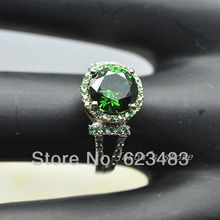 1.48CT SOLID 14K White/ROSE  GOLD NATURAL Emerald TOURMALINE RING