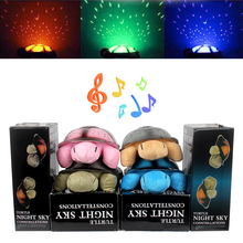 With 4 Light Music High Quality Cute Design Moon and Stars Projector Led Night Light Turtle Lamp Toys for Baby Children