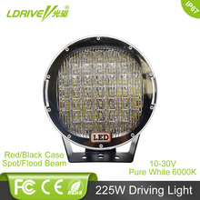 "LDRIVE 225W 9"" Offroad LED Driving Light For SUV Car Truck Auto Trailer Tractor Wagon Van Camper 4X4 4WD ATV AWD LED Headlight(China)"