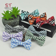 Classical Plaid Baby Butterfly Cotton Striped Bow Tie Pet Children Adjustable School Party Fashion Bowties Drop Shipping Service