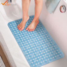 36cmx71cm PVC Bath Mat Shower Mat Non Slip Bathtub Mat With Sucker and Massage Function