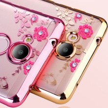 Buy Huawei Honor 6C Pro Case Glitter Flower Bling Diamond Soft TPU Clear Bumper Back Honor 6C Pro Silicone Phone Cover JMM-L22 for $1.89 in AliExpress store