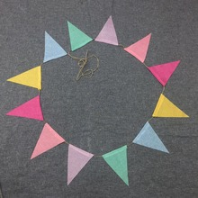 2.6M Vintage colorful burlap linen bunting flags pennant for party wedding garland decoration product supply