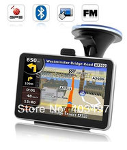 free shipping 5 inch GPS Navigator without  Bluetooth&AV IN  internal 4GB  DDR 128M preload Navitel or full Europe map