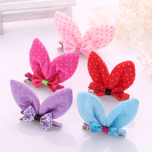 3 Pcs Korean Fashion Cute Novelty High Quality Dots Rabbit Ears Children HeadWear Gifts Hair Accessories Girls Hair Clip Pins