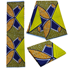 Hot sale African real wax fabric batik cloth for dress Cotton ankara african wax print fabric fabric with best price P702BLB001