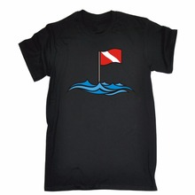 T-Shirt Brand 2017 Male Short Sleeve Sleeve Cool T-Shirts Designs Best Selling Men Dive Site Flag Colour Printed T-Shirt Men(China)