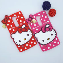 New 3D Cartoon Hello Kitty Case Soft Silicon Back Cover for LG Magna C90 H520N H502F H500F G4mini G4 mini G4c Rubber Phone Shell