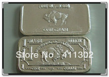 Hot sale .999 pure solid silver 1gram usa buffalo bullion bar, fine silver .999 bullion 10pcs/lot,Free shipping(China)
