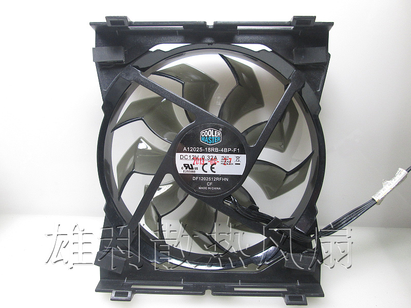 Free Delivery.A12025-18RB-4BP-F1 12V 0.32A 12CM 12025 4-wire cooling fan<br>