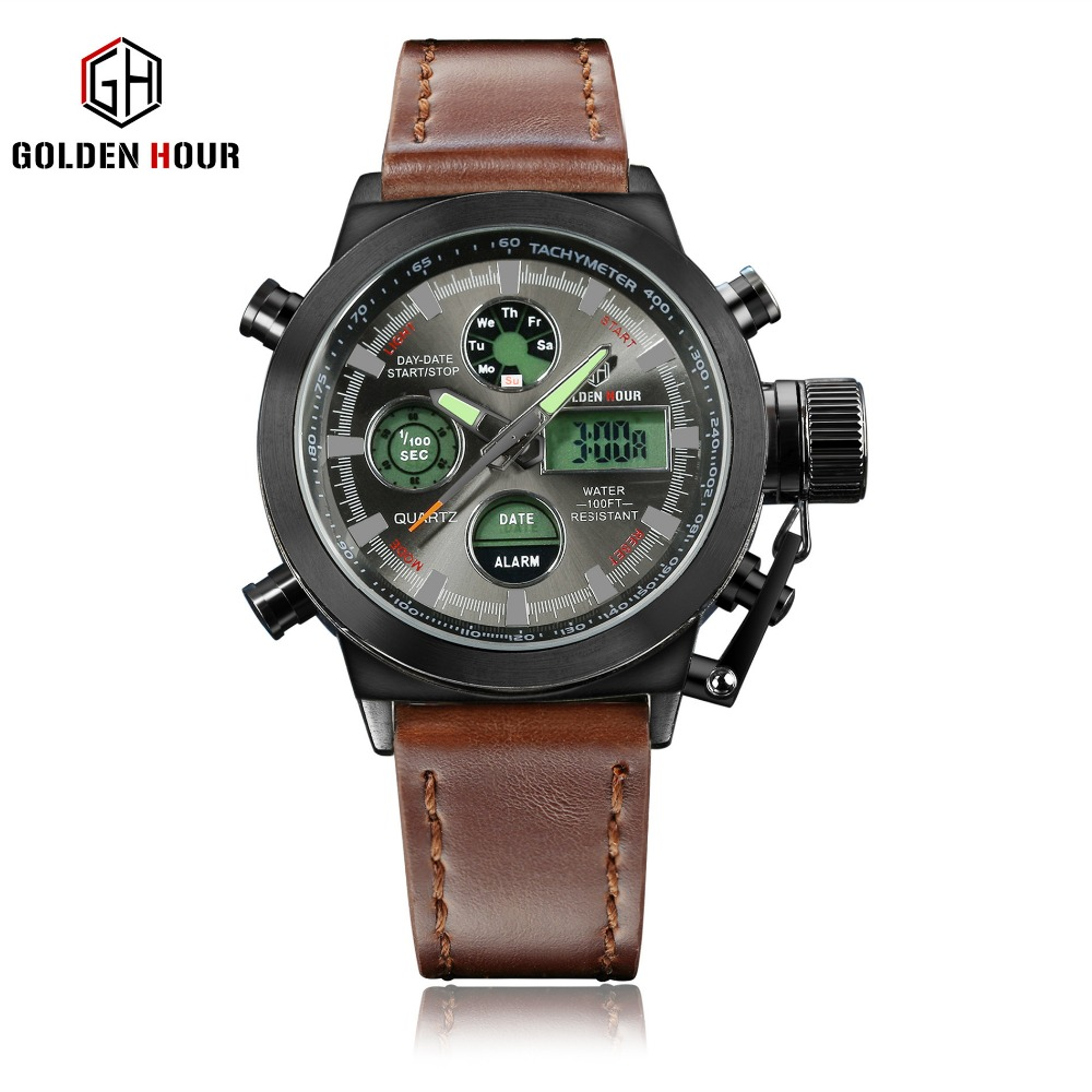 Men Fashion Wristwatche Luxury Hot Brand watch style Mens Leather Strap Watch Sports Watches With High Quality Waterproof<br>