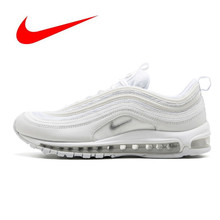 Original Nike Air Max 97 OG QS 2018  Outdoor Sports Shoes  RELEASE Men's Running Shoes,Official New Arrival 884421-001(China)