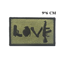 100 piece a lot 3D embroidery armband Arms patch  International Rescue patches United States Army patch badges Service dog patch