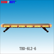 TBD-6L2-6 Free shipping!High quality LED mini lightbar,amber emergency engineering Police light,DC24 Car Roof Flash Strobe light