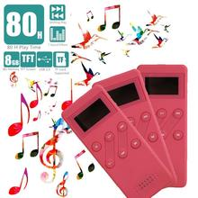 High quality real 8GB lossless Music playing MP3 player with screen MP3 E-book  Recorder FM radio TF card 32G Pink Red