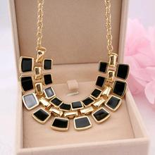 TOMTOSH 2016 Trendy Necklaces Pendants Link Chain Collar Long Plated Enamel Statement Bling & Fashion Necklace Women Jewelry